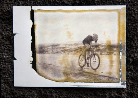 Kirill Kotsegarov performs on large format polaroid in Kona, USA on 2nd October, 2016